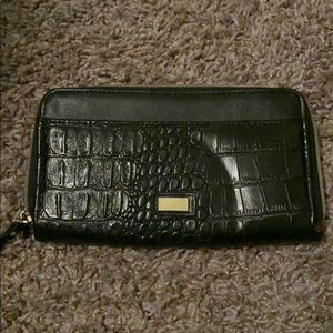 Faux snakeskin wallet